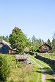 Alte Bauernhoflandschaft Lizenzfreie Stockbilder