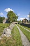 Alte Bauernhoflandschaft Lizenzfreies Stockbild