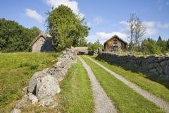 Alte Bauernhoflandschaft Stockbild