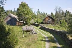 Alte Bauernhoflandschaft Stockfotografie