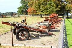 Alte Bauernhofmaschinerie Stockfotografie