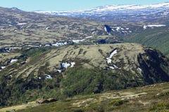 Alte Bauholzkabine in den Bergen Stockbild