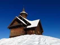 Alte Bauholzkapelle Stockfotos