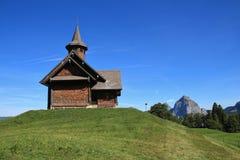 Alte Bauholzkapelle in Stoos Lizenzfreies Stockbild