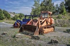 Alte Baumaschinen geschissenes Werkzeug Lizenzfreies Stockbild