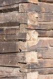 Alte Baumstammwand Stockfoto