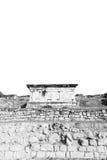 alte Bauspalte und römische die Tempelgeschichte pamukkal Lizenzfreies Stockbild