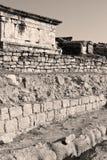 alte Bauspalte und römische die Tempelgeschichte pamukkal Lizenzfreies Stockfoto