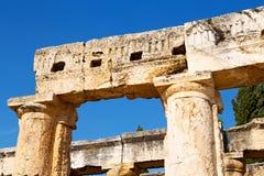 alte Bauspalten-Tempelgeschichte Lizenzfreies Stockbild