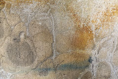 Alte befleckte farbige Wand Stockfotografie
