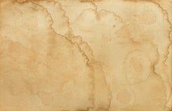 Alte befleckte Papierbeschaffenheit Lizenzfreies Stockfoto