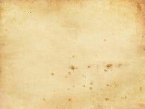 Alte befleckte Papierbeschaffenheit Stockfoto