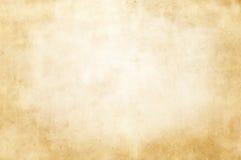 Alte befleckte und gelb gefärbte Papierbeschaffenheit Stockbilder