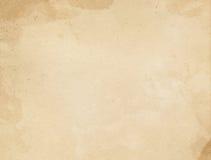 Alte befleckte und gelb gefärbte Papierbeschaffenheit Lizenzfreie Stockbilder
