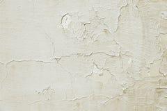 Alte Beige gemalte Wandhintergrundbeschaffenheit Stockbilder