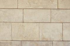 Alte beige Stein-pavementl Hintergrundbeschaffenheit Lizenzfreies Stockbild