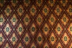 Alte beige Tapete für Beschaffenheit oder Hintergrund Stockfotografie