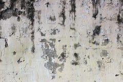 alte beige Wand mit Schalengips für Hintergrund Lizenzfreies Stockfoto