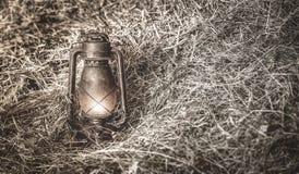 Alte beleuchtete Lampe Lizenzfreies Stockfoto