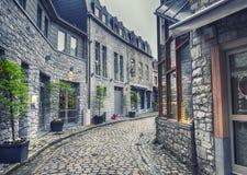 Alte Belgien-Stadt Durbuy Lizenzfreies Stockbild