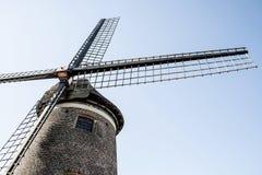 Alte belgische Windmühle Stockbilder