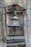 Alte Bell in Kathmandu, (Nepal). Stockfoto