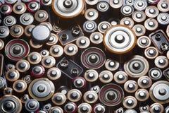 Alte benutzte Batterien Stockfotografie