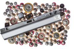 Alte benutzte Batterien Stockfoto