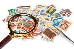 Alte benutzte Briefmarken Lizenzfreies Stockbild