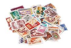 Alte benutzte Briefmarken Lizenzfreie Stockfotografie