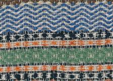 Alte benutzte gesponnene Lappenwolldecke Stockbild