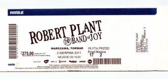 Alte benutzte Karte für das Konzert Lizenzfreies Stockbild