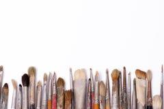 Alte benutzte Malerpinsel Lizenzfreies Stockbild