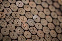 Alte benutzte rostige deutsche Oberteile Makro Lizenzfreie Stockfotografie