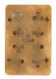 Alte benutzte Spielkarte des Querpapierhintergrundes Stockbilder