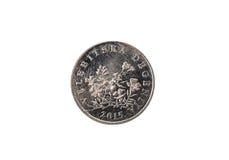 Alte benutzte und getragene heraus lipa 50 Münze Stockfotografie