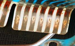 Alte benutzte und schmutzige Leiterplatte Lizenzfreies Stockbild
