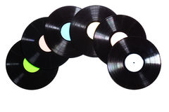 Alte benutzte Vinylaufzeichnung Stockbilder