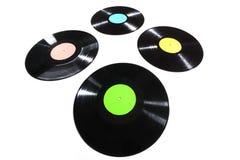 Alte benutzte Vinylaufzeichnung Stockfotografie