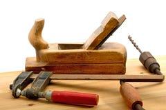 Alte benutzte Werkzeuge Stockfotografie