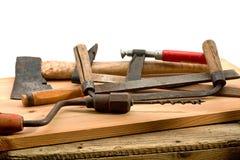 Alte benutzte Werkzeuge Stockbild