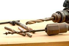 Alte benutzte Werkzeuge Stockfoto