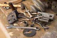 Alte benutzte Werkzeuge Lizenzfreies Stockbild