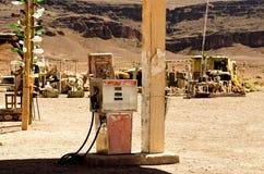 Alte Benzinpumpe Stockfotografie
