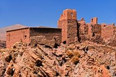 Alte Berberarchitektur nahe der Stadt von Tamellalt, Marokko Stockbild
