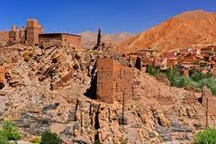 Alte Berberarchitektur nahe der Stadt von Tamellalt, Marokko Stockbilder