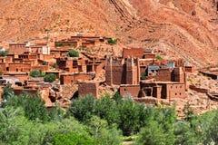 Alte Berberarchitektur nahe der Stadt von Tamellalt, Marokko Lizenzfreie Stockfotos
