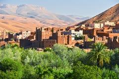 Alte Berberarchitektur nahe der Stadt von Tamellalt, Marokko Lizenzfreie Stockfotografie