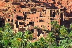Alte Berberarchitektur nahe der Stadt von Tinghir im Atlas-Berg Stockfotos