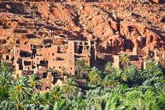 Alte Berberarchitektur nahe der Stadt von Tinghir im Atlas-Berg Stockbilder